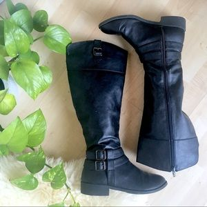 AMERICAN EAGLE Knee High Riding Boot Black 6